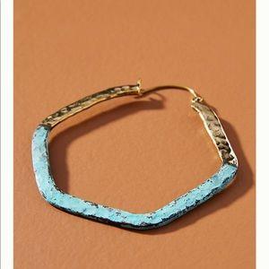 Anthropologie Jewelry - Anthropologie Lena Bernard Angeles Hoop Earrings